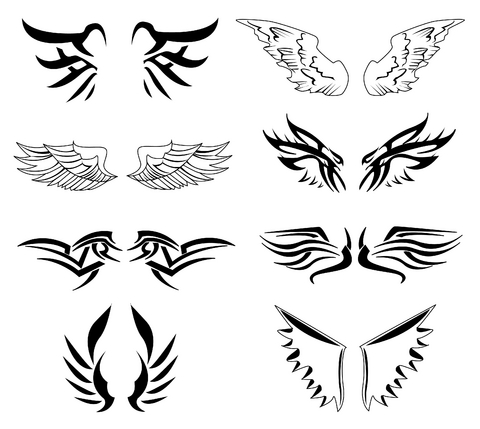 Wings Tattoos on Thumbs Wings Tattoo 4 Wing Designs